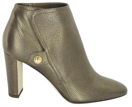 Preload https://item4.tradesy.com/images/jimmy-choo-green-pewter-leather-medal-pointy-toe-high-heel-ankle-pumps-bootsbooties-size-eu-39-appro-23242703-0-1.jpg?width=440&height=440