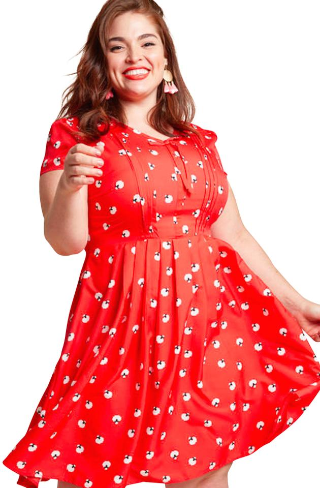 558eaaf557b21 Modcloth short dress Red Fit And Flare Aline Midi on Tradesy Image 0 ...