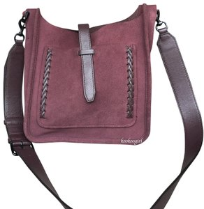 Rebecca Minkoff Suede Unlined Whipstitch Leather Cross Body Bag