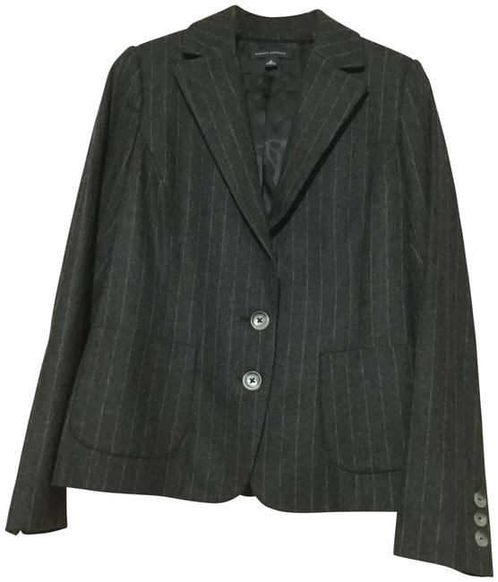 Preload https://item3.tradesy.com/images/banana-republic-charcoal-pinstripes-blazer-size-10-m-23242727-0-1.jpg?width=400&height=650