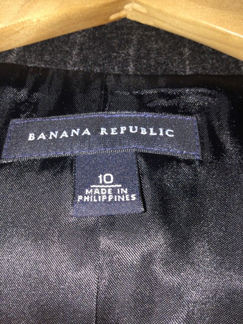 Banana Republic Charcoal pinstripes Blazer