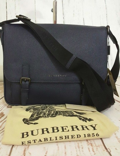 Burberry Navy Messenger Bag