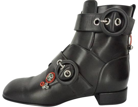 Preload https://item5.tradesy.com/images/dior-black-leather-gatsby-jewel-buckle-straps-square-toe-ankle-bootsbooties-size-eu-37-approx-us-7-r-23242759-0-1.jpg?width=440&height=440