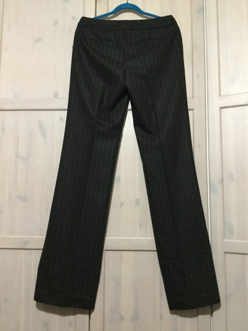 Banana Republic Straight Pants Charcoal Pinstripes