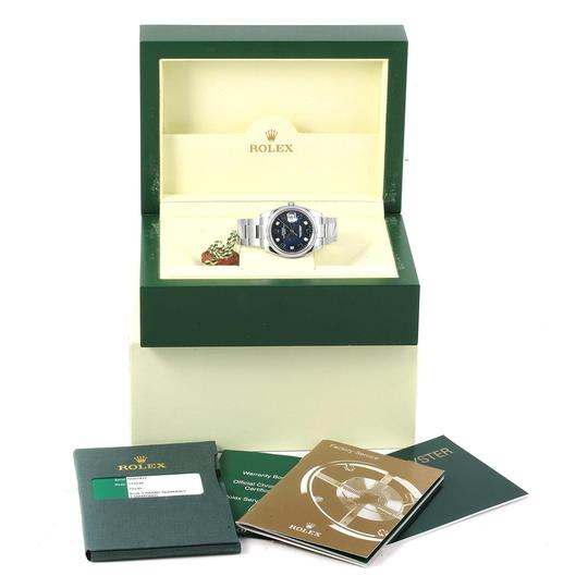 Rolex Rolex Date 36 Steel White Gold Diamond Unisex Watch 115234 Box Card