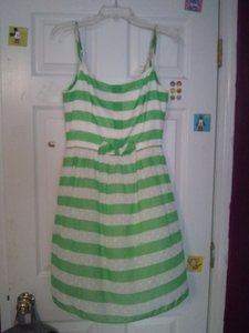 Lilly Pulitzer short dress green and white Preppy Classic A-line on Tradesy