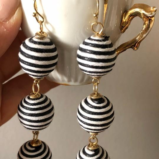 Other Gold-tone striped cord earrings