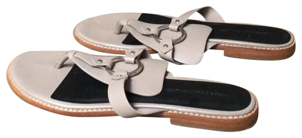 78e58ada336 Rebecca Minkoff Taupe and Black Sheena Thong Sandals Size US 11 ...
