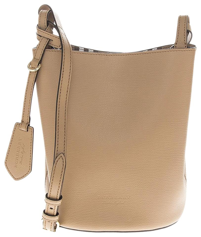 1422f6114f66 Burberry Haymarket Bucket Tan Leather Cross Body Bag - Tradesy