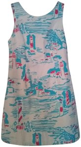 Lilly Pulitzer short dress White, Blue, and Red Preppy Shift Shift Classic on Tradesy