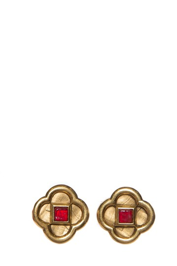 Preload https://img-static.tradesy.com/item/23242969/lanvin-gold-and-red-clip-on-earrings-0-0-540-540.jpg