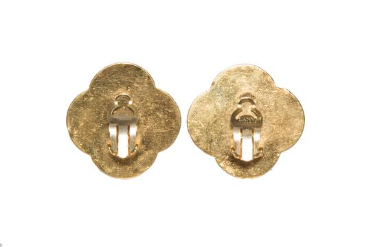 Lanvin Lanvin Gold and Red Clip On Earrings