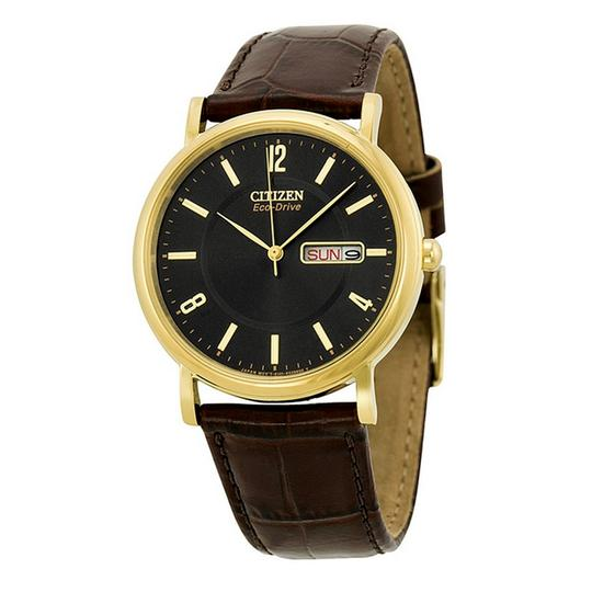 Preload https://item5.tradesy.com/images/citizen-gold-brown-eco-drive-black-dial-gold-tone-stainless-steel-leather-men-s-wat-watch-23242974-0-0.jpg?width=440&height=440