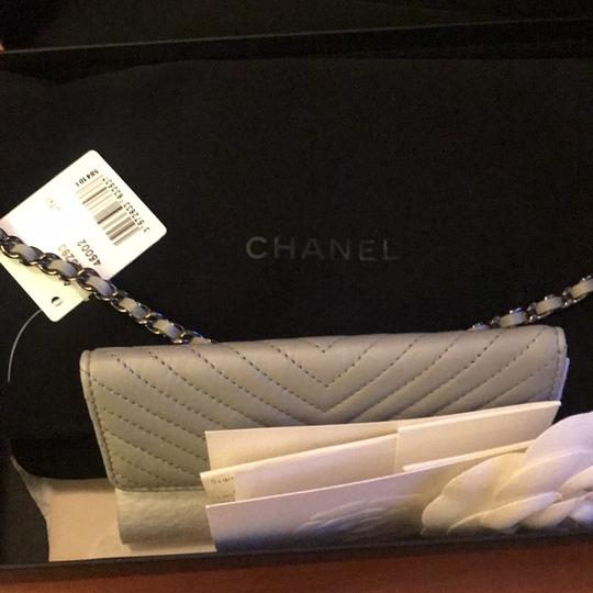 Chanel gray and silver Clutch