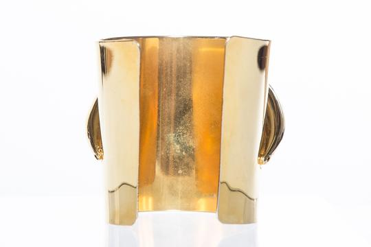 Saint Laurent Yves Saint Laurent Wide Gold Cuff Bracelet