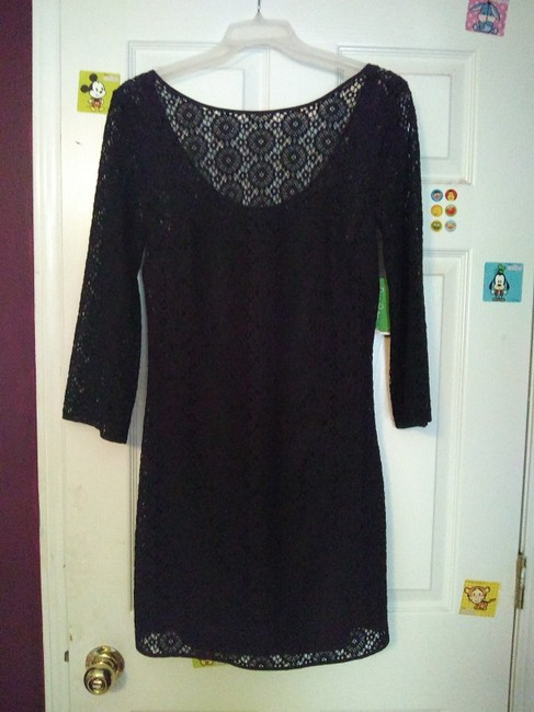 Lilly Pulitzer short dress Black Crochet Preppy Classic on Tradesy