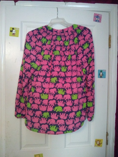 Lilly Pulitzer Preppy Classic Top Pink and Green