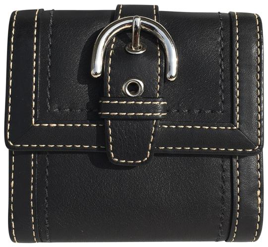 Preload https://item4.tradesy.com/images/coach-black-vintage-leather-with-buckle-wallet-23243018-0-1.jpg?width=440&height=440
