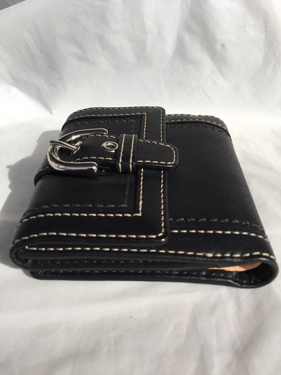 Coach Coach Vintage Black Leather Wallet with Buckle