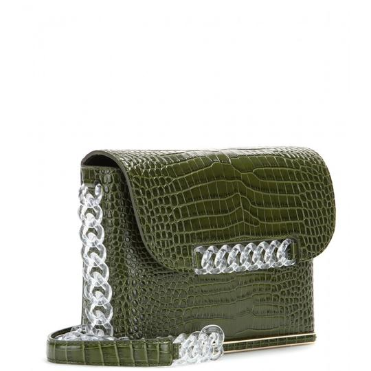 Preload https://item3.tradesy.com/images/charlotte-olympia-dean-croc-embossed-green-leather-shoulder-bag-23243022-0-0.jpg?width=440&height=440