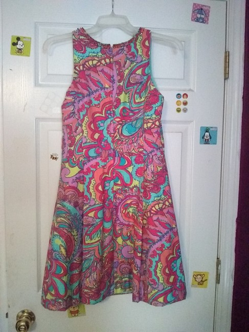 Lilly Pulitzer short dress Multicolored Preppy Classic A-line Beaded on Tradesy