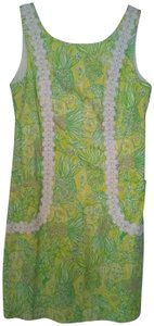 Lilly Pulitzer short dress Yellow and Green Classic Shift Shift Preppy on Tradesy