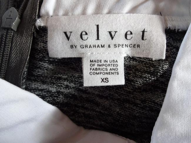 Velvet by Graham & Spencer Back Hidden Zip Split Side Seams Super Soft Fabric Layered Preppy Look Urban Chic Top Grey