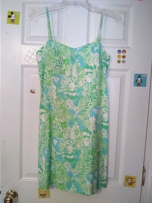 Lilly Pulitzer short dress Blue and Green Classic Preppy Cut-out on Tradesy