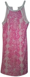 Lilly Pulitzer short dress Pink and White Classic Preppy Shift on Tradesy