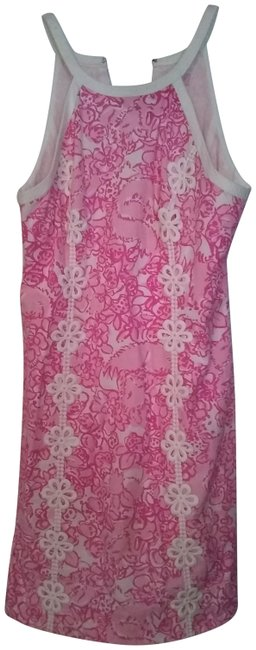 Preload https://img-static.tradesy.com/item/23243093/lilly-pulitzer-pink-and-white-short-casual-dress-size-4-s-0-1-650-650.jpg