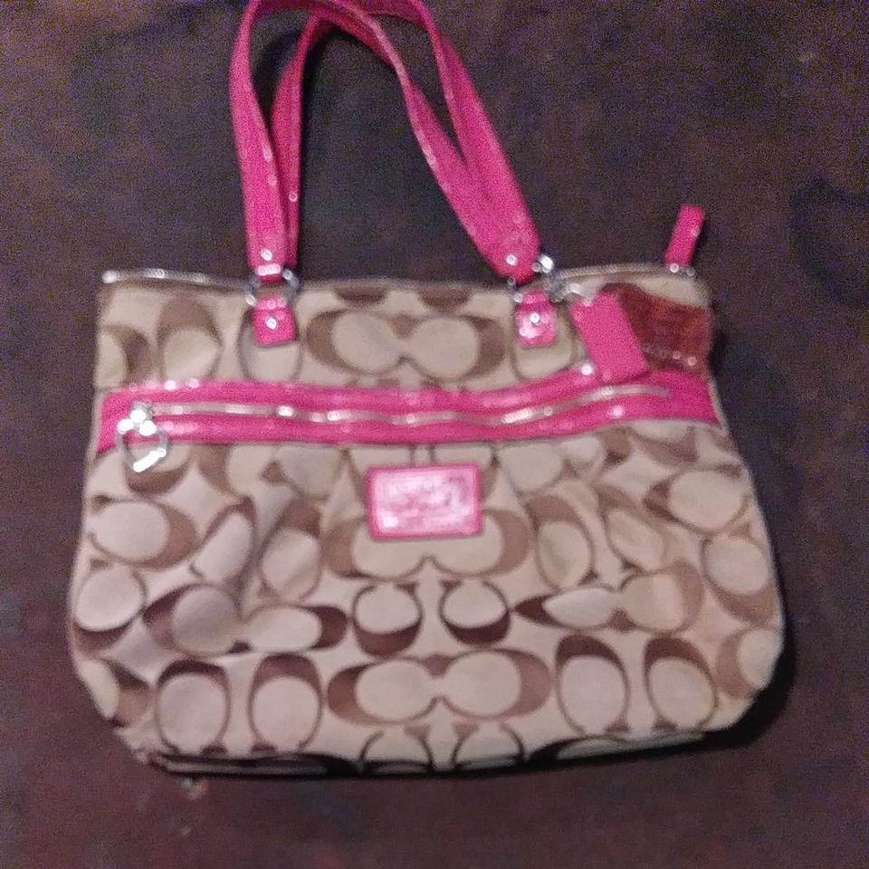 big collection buy quite nice Coach Purse Brown and Pink Terry Cloth Tote 84% off retail