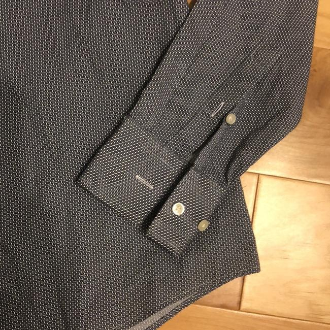 Hugo Boss Button Down Shirt Navy and White