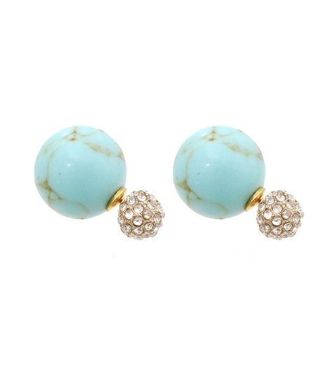 Preload https://item5.tradesy.com/images/cream-silver-gold-turquoise-5-pairs-double-sided-crystal-ball-pearl-stud-earrings-23243194-0-3.jpg?width=440&height=440