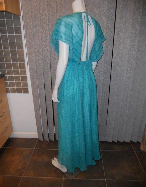 Green Maxi Dress by Elizabeth and James Camara Maxi Gown Open Back