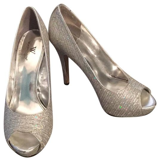Preload https://img-static.tradesy.com/item/23243220/worthington-iridescent-and-silver-platforms-size-us-85-regular-m-b-0-1-540-540.jpg