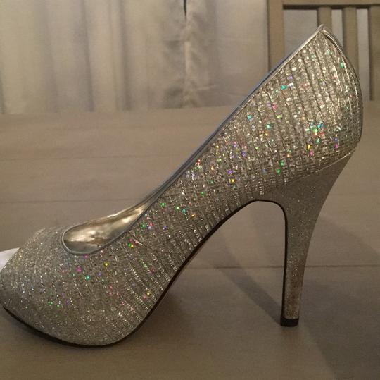 Worthington iridescent and silver Platforms