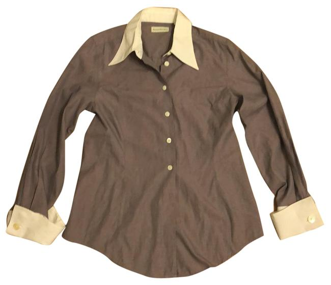 Preload https://item5.tradesy.com/images/banana-republic-plum-with-white-trim-modern-classic-button-down-top-size-6-s-23243229-0-1.jpg?width=400&height=650