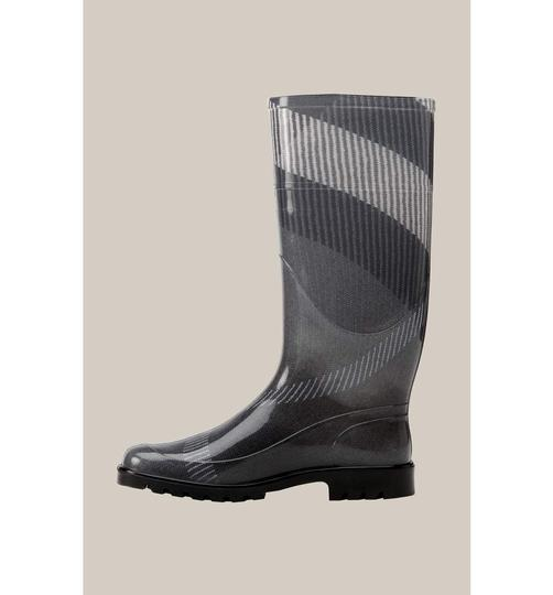 Burberry Charcoal/Black Check Boots