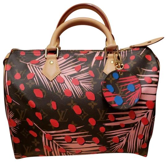 Preload https://img-static.tradesy.com/item/23243324/louis-vuitton-speedy-monogram-red-dot-jungle-limited-edition-brown-canvas-shoulder-bag-0-2-540-540.jpg