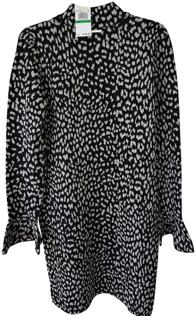 Preload https://img-static.tradesy.com/item/23243370/michael-kors-blacksilver-metallic-cheetah-print-mid-length-cocktail-dress-size-12-l-0-5-650-650.jpg
