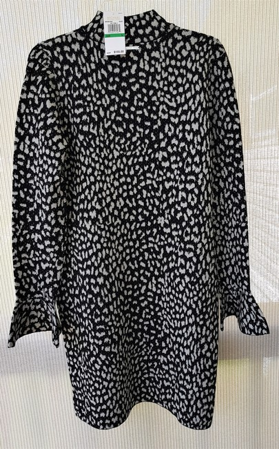 Michael Kors Animal Print Metallic Color: Black/Silver Mk Logo On Size: Large Dress