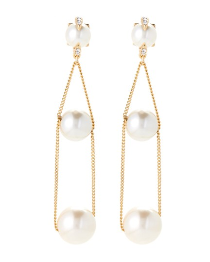 Preload https://img-static.tradesy.com/item/23243401/vince-camuto-gold-tone-chain-faux-pearl-earrings-0-0-540-540.jpg