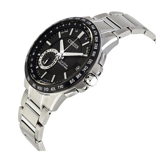 Citizen Eco Drive Satellite GPS Atomic Black Dial Stainless Steel Men's Watch