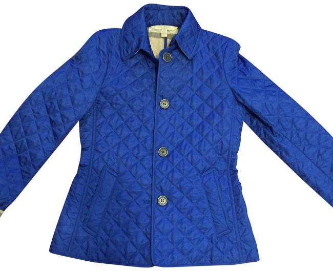 Item - Cobalt Blue Brit Quilted Jacket Size 2 (XS)