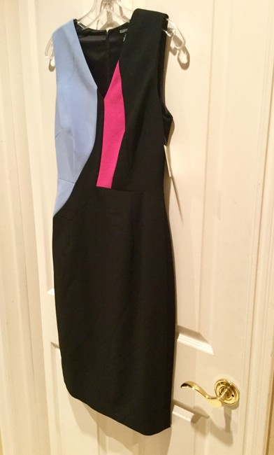 Ellen Tracy Colorblock Sleeveless Fitted Modern Contemporary Dress