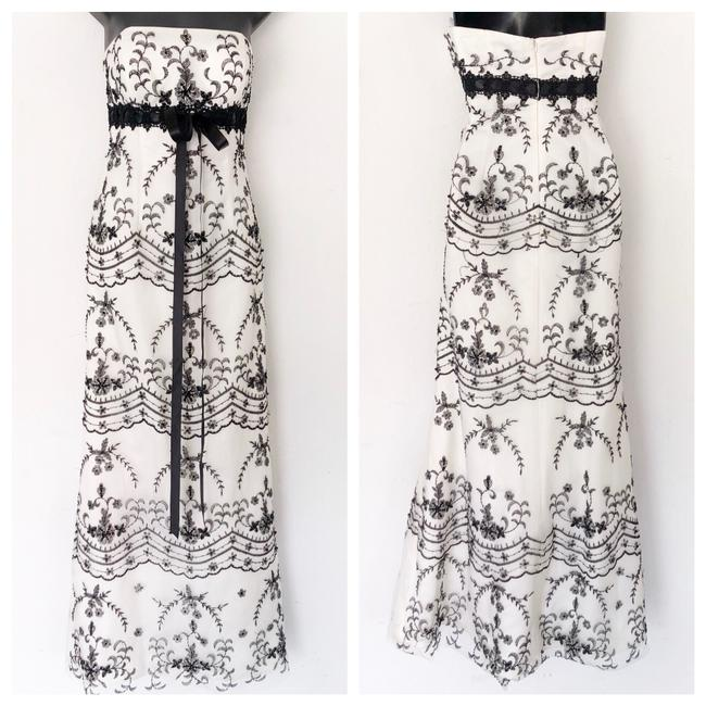 Preload https://img-static.tradesy.com/item/23243508/camille-la-vie-white-and-black-embroidered-ballgown-long-formal-dress-size-6-s-0-0-650-650.jpg