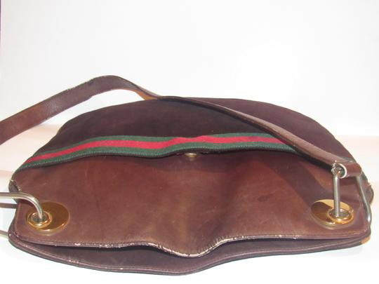 Gucci Excellent Vintage High-end Bohemian Red/Green Rare Early Shoulder Bag