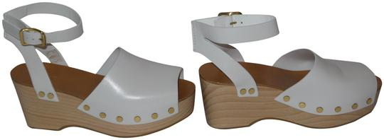 Preload https://img-static.tradesy.com/item/23243554/celine-white-leather-platform-sandals-wedges-size-eu-40-approx-us-10-regular-m-b-0-1-540-540.jpg