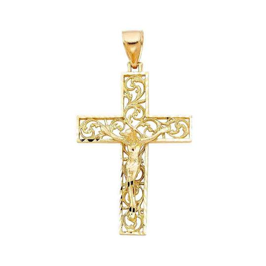 Preload https://img-static.tradesy.com/item/23243572/yellow-14k-religious-crucifix-pendant-charm-0-0-540-540.jpg