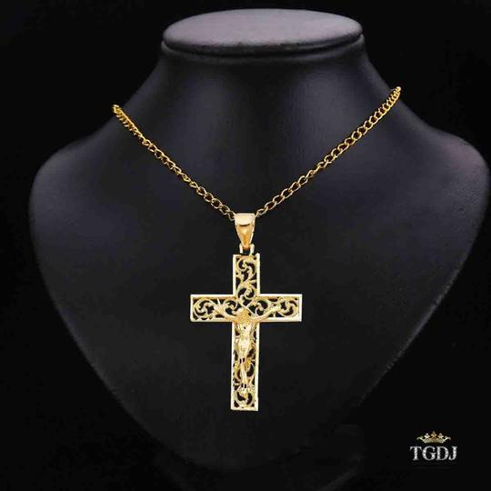Top Gold & Diamond Jewelry 14K Yellow Gold Religious Crucifix Pendant